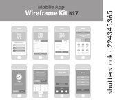 mobile app wireframe ui kit 7....