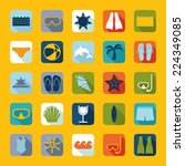 set of summer tourism icons | Shutterstock .eps vector #224349085