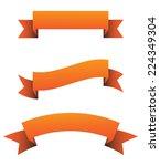 orange ribbon set | Shutterstock .eps vector #224349304