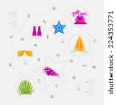 set of summer tourism icons | Shutterstock .eps vector #224353771