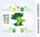 ecology infographics | Shutterstock .eps vector #224358034