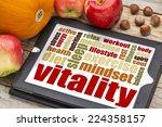 vitality or vital energy word... | Shutterstock . vector #224358157