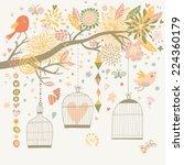 Freedom Concept Card. Birds Ou...