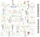set of wedding template design... | Shutterstock .eps vector #224360455