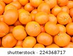 bunch of fresh mandarin oranges ... | Shutterstock . vector #224368717