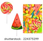 bright sweets  lollipops ... | Shutterstock . vector #224375299