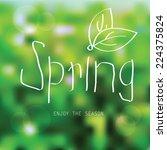 vector spring landscape... | Shutterstock .eps vector #224375824