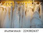 a few beautiful wedding dresses ... | Shutterstock . vector #224382637