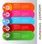 colorful modern speech bubble... | Shutterstock .eps vector #224392099