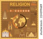 religion infographics. vector... | Shutterstock .eps vector #224399689