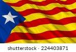 catalan independentist blue... | Shutterstock . vector #224403871