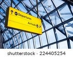 check in  airport departure  ... | Shutterstock . vector #224405254