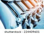 new vehicles in stock closeup... | Shutterstock . vector #224409601