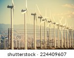 conversion of wind energy. wind ... | Shutterstock . vector #224409607