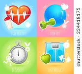 healthy lifestyle  keep fit... | Shutterstock .eps vector #224418175