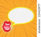 speech bubble comic style...   Shutterstock .eps vector #224423977
