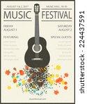 Music Festival  Vintage Poster...