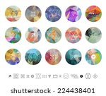 set of colored geometric... | Shutterstock .eps vector #224438401