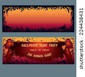 halloween invitation. pattern... | Shutterstock .eps vector #224438431