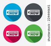 register now sign icon. join... | Shutterstock .eps vector #224444641