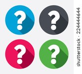 question mark sign icon. help... | Shutterstock .eps vector #224444644
