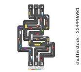 road point information. vector... | Shutterstock .eps vector #224446981