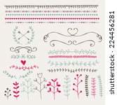 hand drawn design elements and... | Shutterstock .eps vector #224456281