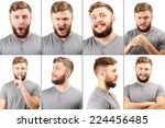 emotion concept. handsome man... | Shutterstock . vector #224456485