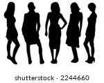 set of five female fashion... | Shutterstock .eps vector #2244660