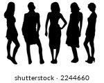 set of five female fashion... | Shutterstock .eps vector #2244660