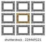 set 9 of vintage gold   gray... | Shutterstock . vector #224469121