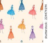 fashion pattern | Shutterstock .eps vector #224474194