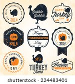 thanksgiving day badges and... | Shutterstock .eps vector #224483401