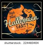 halloween party vector... | Shutterstock .eps vector #224483404