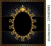 royal golden frame with crown... | Shutterstock .eps vector #224483881