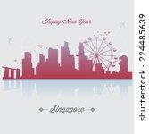 singapore vector | Shutterstock .eps vector #224485639
