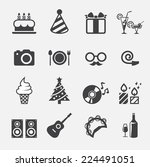 party icon 2 | Shutterstock .eps vector #224491051
