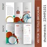 tri fold brochure design... | Shutterstock .eps vector #224491321