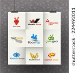 collection of vector logo...   Shutterstock .eps vector #224492011