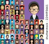 collection of avatars24    65... | Shutterstock .eps vector #224493661