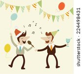 office party with business man... | Shutterstock .eps vector #224498431