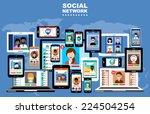 social networks. internet... | Shutterstock .eps vector #224504254