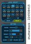 interface buttons set for space ... | Shutterstock .eps vector #224508415