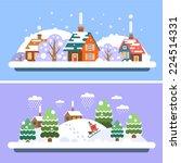 Winter Village Landscapes....