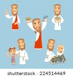 preaching jesus cartoon... | Shutterstock .eps vector #224514469