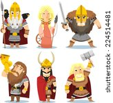 viking gods cartoon... | Shutterstock .eps vector #224514481