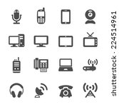 communication device icon set ... | Shutterstock .eps vector #224514961