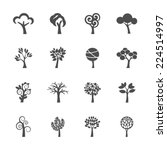 abstract tree icon set  vector... | Shutterstock .eps vector #224514997