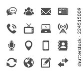Communication Icon Set  Vector...