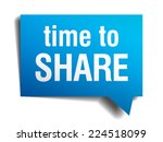 time to share blue 3d realistic ... | Shutterstock .eps vector #224518099